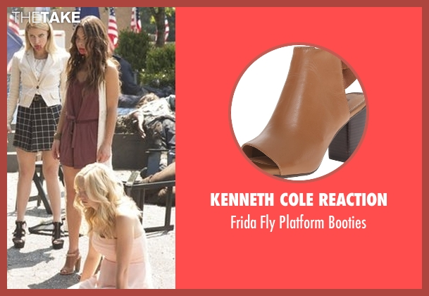 Kenneth Cole Reaction brown booties from The Vampire Diaries seen with Nora (Scarlett Byrne)