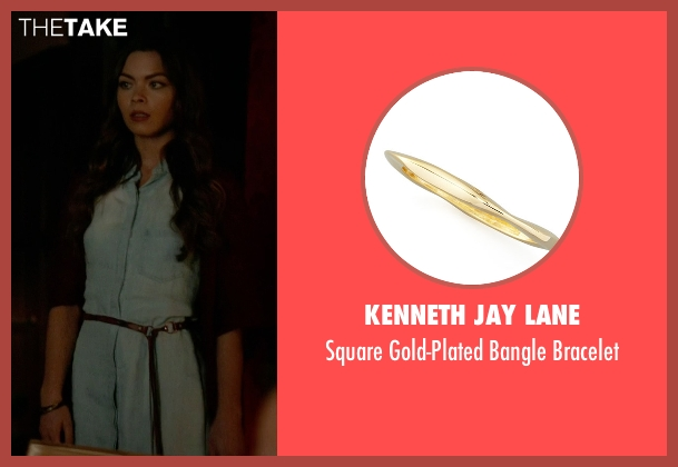 Kenneth Jay Lane gold bracelet from The Vampire Diaries seen with Nora (Scarlett Byrne)