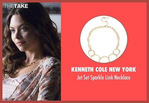 Kenneth Cole New York gold necklace from The Vampire Diaries seen with Nora (Scarlett Byrne)