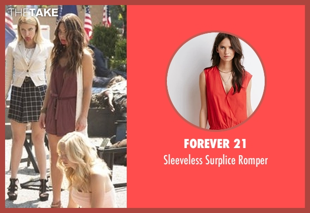 Forever 21 red romper from The Vampire Diaries seen with Nora (Scarlett Byrne)
