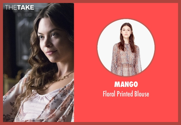 Mango white blouse from The Vampire Diaries seen with Nora (Scarlett Byrne)