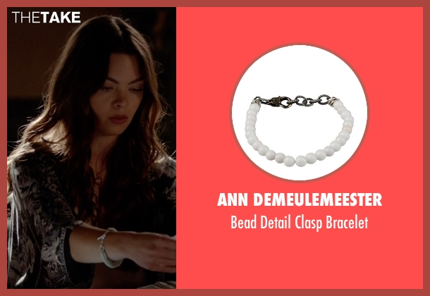 Ann Demeulemeester white bracelet from The Vampire Diaries seen with Nora (Scarlett Byrne)