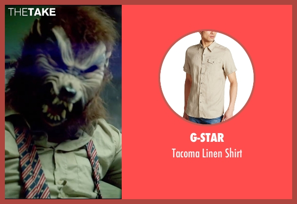 G-Star beige shirt from Triple 9 seen with Norman Reedus (Gabriel Martin)