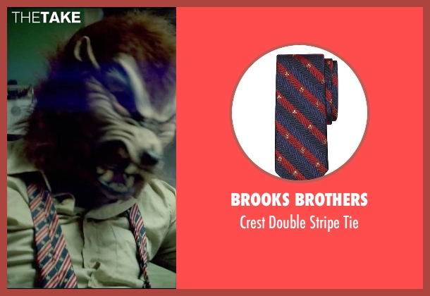 Brooks Brothers blue tie from Triple 9 seen with Norman Reedus (Gabriel Martin)