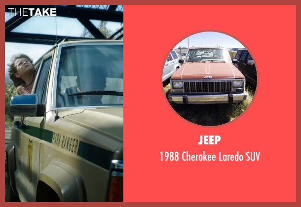 Jeep suv from Pete's Dragon seen with Oakes Fegley (Pete)