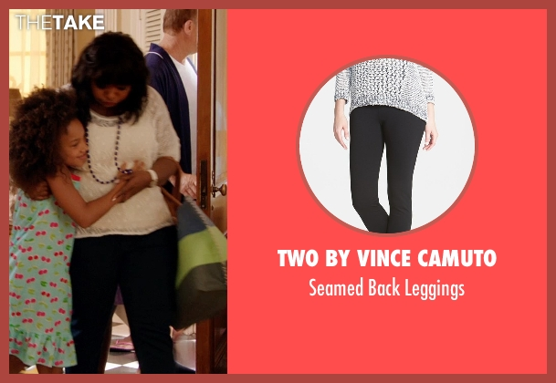 Two By Vince Camuto black leggings from Black or White seen with Octavia Spencer (Rowena Jeffers)