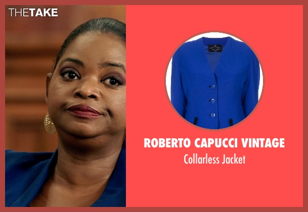 Roberto Capucci Vintage blue jacket from Black or White seen with Octavia Spencer (Rowena Jeffers)