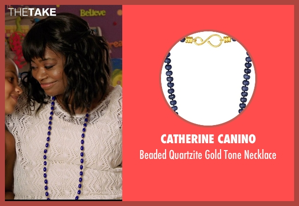 Catherine Canino blue necklace from Black or White seen with Octavia Spencer (Rowena Jeffers)