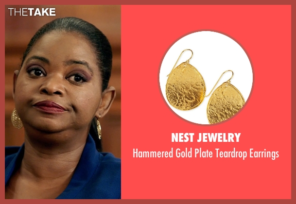 Nest Jewelry	 gold earrings from Black or White seen with Octavia Spencer (Rowena Jeffers)