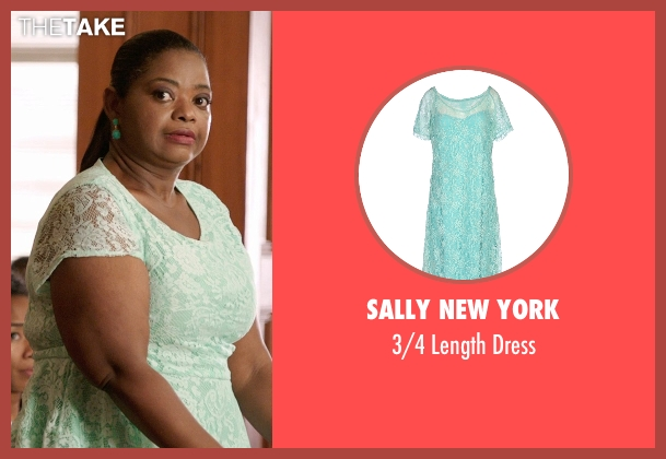 Sally New York green dress from Black or White seen with Octavia Spencer (Rowena Jeffers)