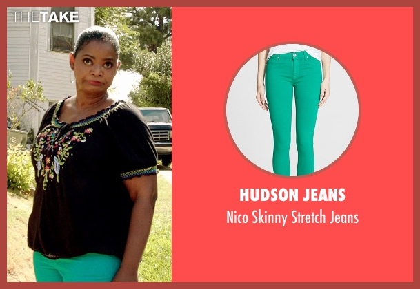 Hudson Jeans green jeans from Black or White seen with Octavia Spencer (Rowena Jeffers)