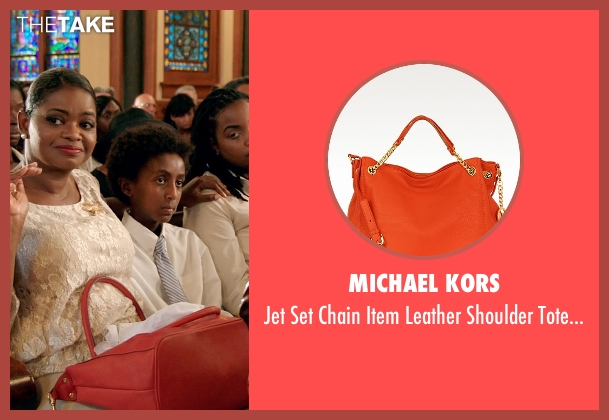 Michael Kors orange bag from Black or White seen with Octavia Spencer (Rowena Jeffers)