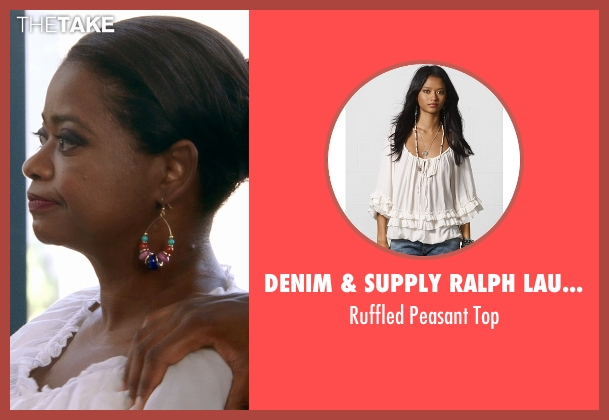 Denim & Supply Ralph Lauren white top from Black or White seen with Octavia Spencer (Rowena Jeffers)