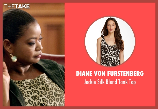 Diane von Furstenberg white top from Black or White seen with Octavia Spencer (Rowena Jeffers)