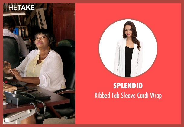 Splendid white wrap from Black or White seen with Octavia Spencer (Rowena Jeffers)