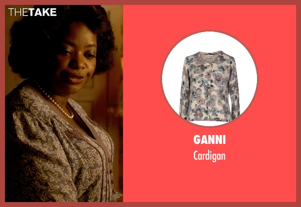 Ganni cardigan from Get On Up seen with Octavia Spencer (Aunt Honey)