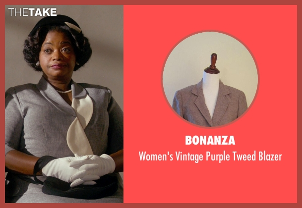 Bonanza gray blazer from Get On Up seen with Octavia Spencer (Aunt Honey)