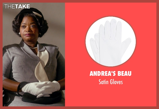 Andrea's Beau white gloves from Get On Up seen with Octavia Spencer (Aunt Honey)