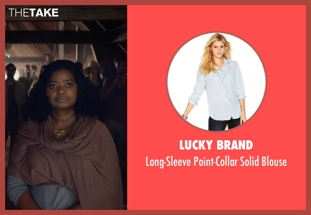 Lucky Brand blue blouse from The Divergent Series: Insurgent seen with Octavia Spencer (Johanna)