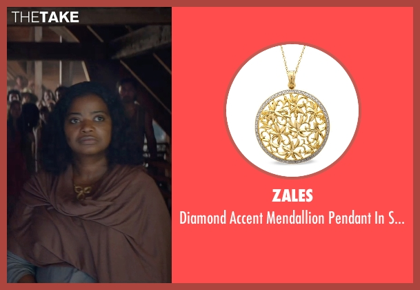 Zales gold necklace from The Divergent Series: Insurgent seen with Octavia Spencer (Johanna)