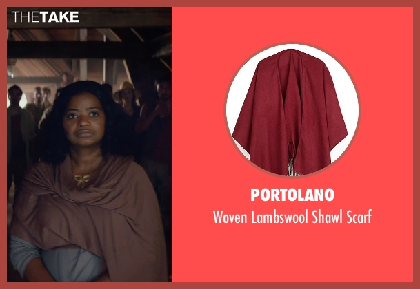 Portolano red scarf from The Divergent Series: Insurgent seen with Octavia Spencer (Johanna)