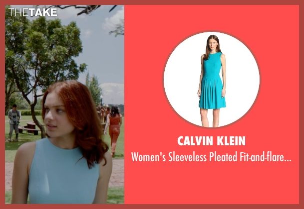 Calvin Klein blue dress from The Giver seen with Odeya Rush (Fiona)