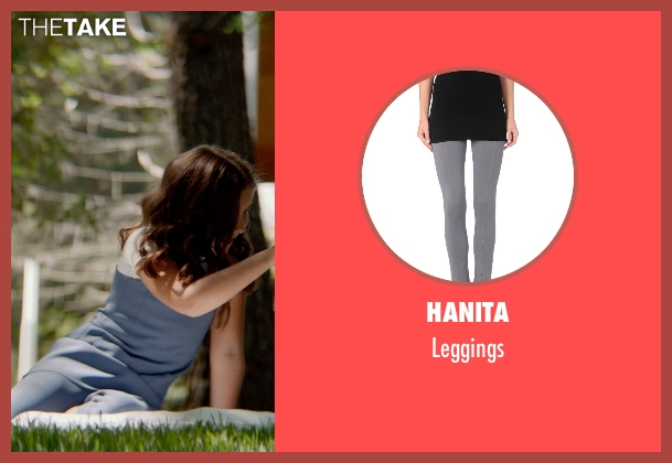 Hanita gray leggings from The Giver seen with Odeya Rush (Fiona)