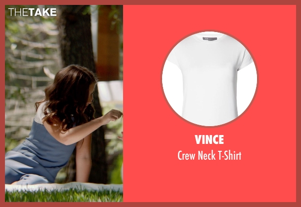 Vince white t-shirt from The Giver seen with Odeya Rush (Fiona)