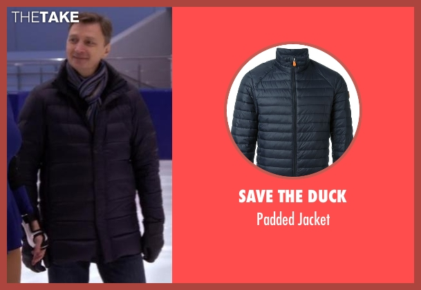 Save The Duck blue jacket from Chelsea seen with Oleg Vasiliev