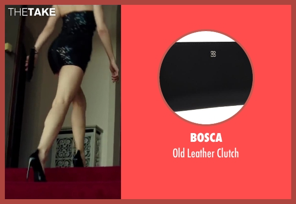 Bosca black clutch from The November Man seen with Olga Kurylenko (Alice Fournier)