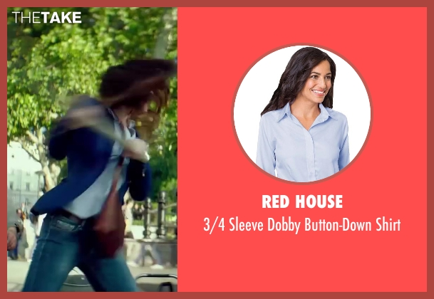 Red House blue shirt from The November Man seen with Olga Kurylenko (Alice Fournier)