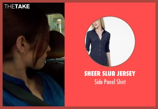 Sheer Slub Jersey blue shirt from The November Man seen with Olga Kurylenko (Alice Fournier)