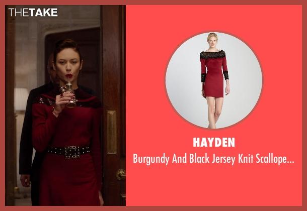 HAYDEN red dress from Vampire Academy seen with Olga Kurylenko (Headmistress Kirova)