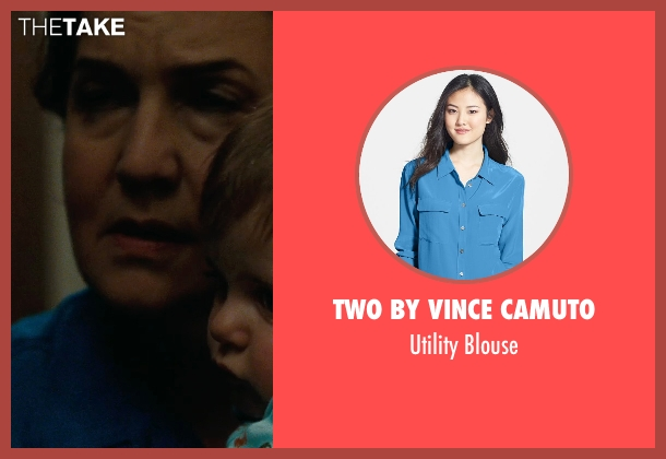 Two by Vince Camuto blue blouse from The Place Beyond The Pines seen with Olga Merediz (Malena)
