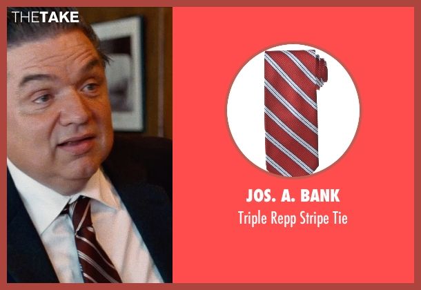 Jos. A. Bank red tie from Cut Bank seen with Oliver Platt (Joe Barrett)