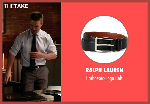 Ralph Lauren black belt from Arrow seen with Oliver Queen / Green Arrow (Stephen Amell)