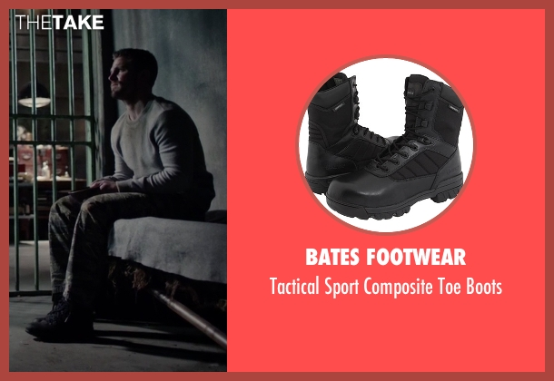 Bates Footwear black boots from Arrow seen with Oliver Queen / Green Arrow (Stephen Amell)