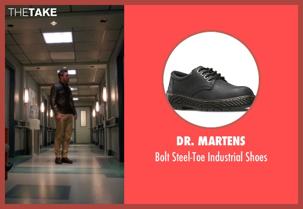 Dr. Martens black shoes from Arrow seen with Oliver Queen / Green Arrow (Stephen Amell)