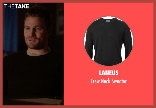 Laneus black sweater from Arrow seen with Oliver Queen / Green Arrow (Stephen Amell)