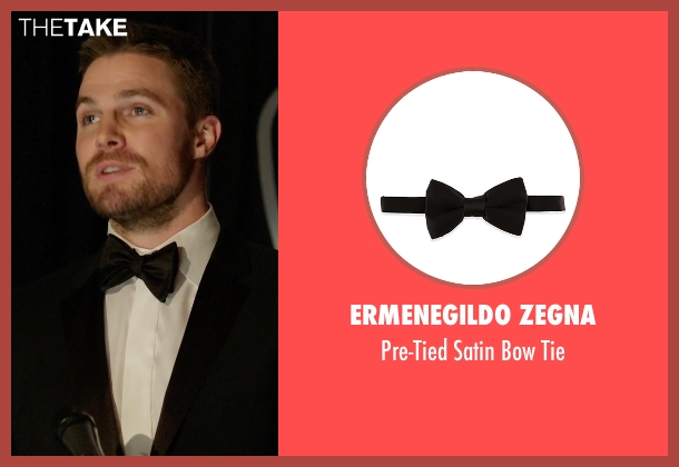 Ermenegildo Zegna black tie from Arrow seen with Oliver Queen / Green Arrow (Stephen Amell)