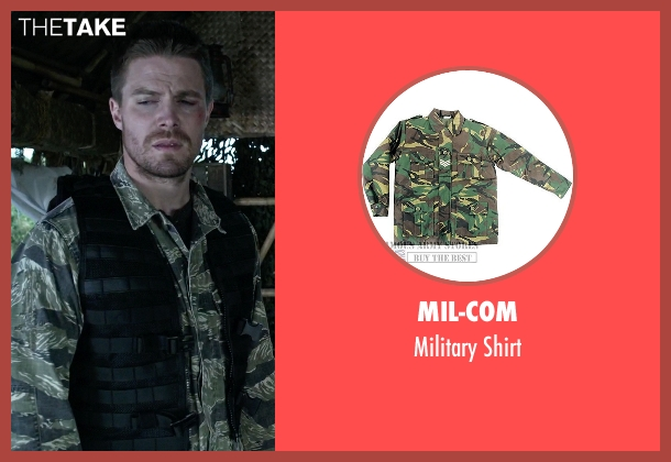 Mil-Com shirt from Arrow seen with Oliver Queen / Green Arrow (Stephen Amell)