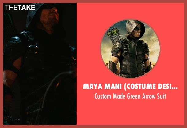 Maya Mani (Costume Designer) suit from Arrow seen with Oliver Queen / Green Arrow (Stephen Amell)