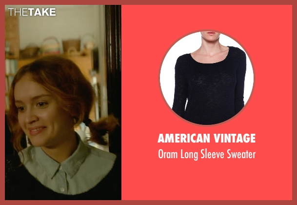 American Vintage black sweater from Me and Earl and the Dying Girl seen with Olivia Cooke (Rachel)