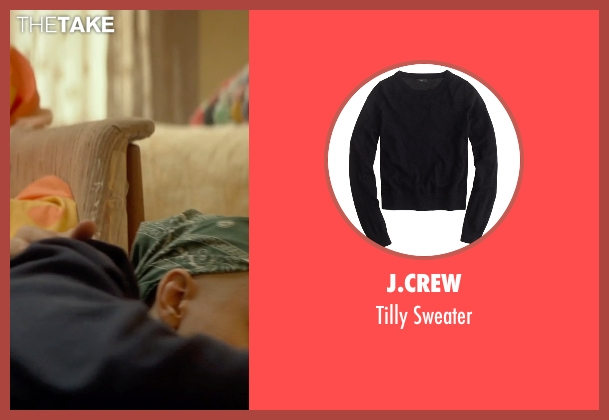 J.Crew black sweater from Me and Earl and the Dying Girl seen with Olivia Cooke (Rachel)
