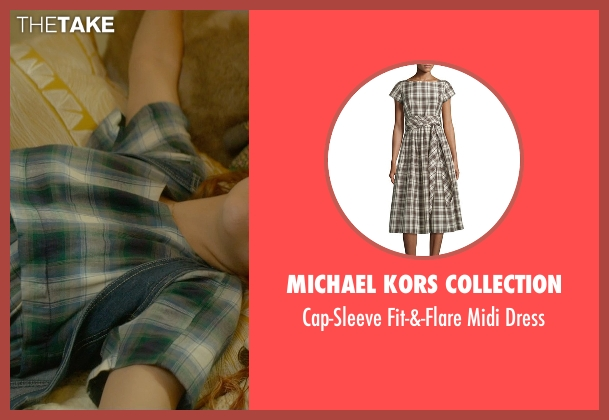 Michael Kors Collection blue dress from Me and Earl and the Dying Girl seen with Olivia Cooke (Rachel)