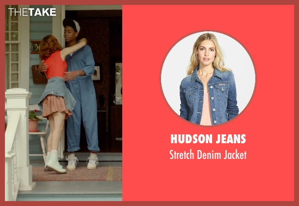 Hudson Jeans blue jacket from Me and Earl and the Dying Girl seen with Olivia Cooke (Rachel)