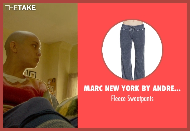 Marc New York By Andrew Marc Performance blue sweatpants from Me and Earl and the Dying Girl seen with Olivia Cooke (Rachel)