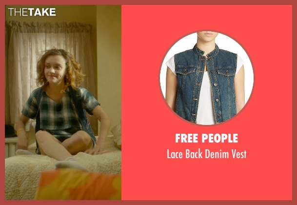 Free People blue vest from Me and Earl and the Dying Girl seen with Olivia Cooke (Rachel)
