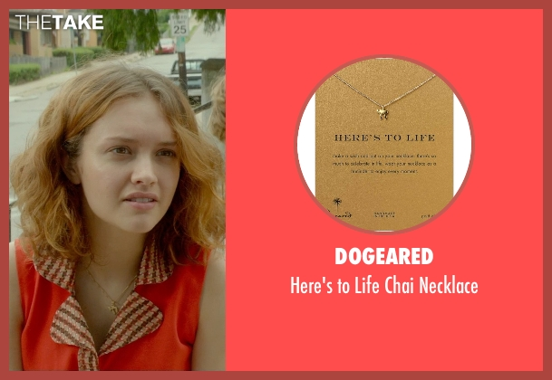 Dogeared gold necklace from Me and Earl and the Dying Girl seen with Olivia Cooke (Rachel)
