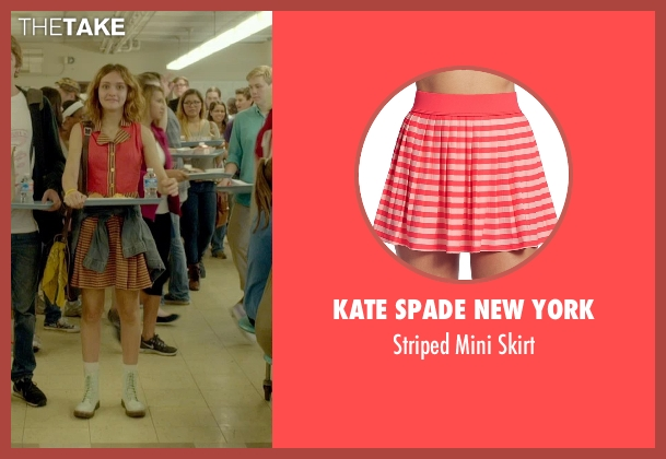 Kate Spade New York red skirt from Me and Earl and the Dying Girl seen with Olivia Cooke (Rachel)